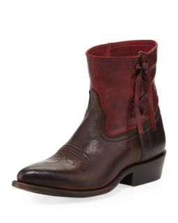 Billy Cross Stitch Short Cowboy Boot, Burgundy   Frye   Burgundy (36.0B/6.0B)