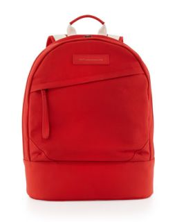 Kastrup Mens Coated Canvas Backpack, Red   WANT Les Essentiels de la Vie   Red