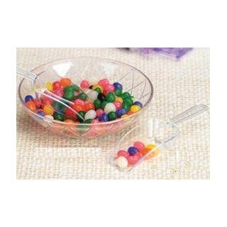 Candy Scoop Set   Package of 12 Clear Small Plastic Scoops for Wedding and Party Candy Buffets: Kitchen & Dining