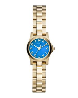Henry Dinky Analog Watch with Bracelet, Yellow Golden/Blue   MARC by Marc