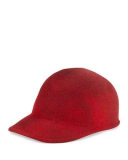 Joey Wool Cap Hat, Red Marble   Eugenia Kim   Red marble