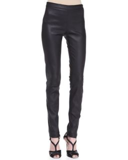 Womens Skinny Leather Pants, Black   Carolina Herrera   Black (14)