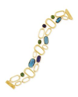 Murano 18k Gold Multi Stone Link Bracelet   Marco Bicego   Gold (18k )