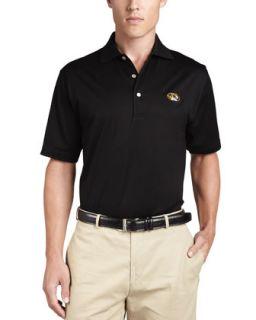 Mens Mizzou Tigers College Shirt Gameday Polo, Black   Peter Millar   Black