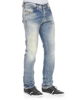 Mens Belther 32 Tapered Leg Denim Jeans, Light Blue   Diesel   Light blue (31)
