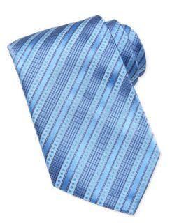 Mens Multi Stripe Silk Tie, Lavender   Stefano Ricci   Lavender