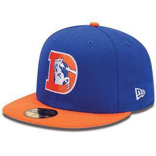 NEW ERA Mens Denver Broncos Retro D Logo 59FIFTY Fitted Cap   Size: 7.25, Royal