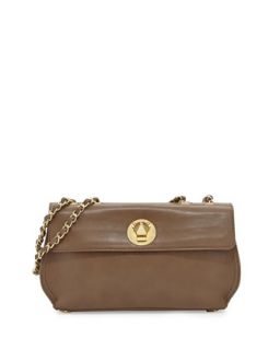 Borsa Faux Leather Crossbody Bag, Taupe   Moschino