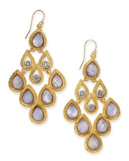 Sodalite Doublet Earrings   Alexis Bittar   Gold