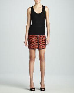 Womens Mosaic Scuba Skirt   M Missoni   Russet (46/10)