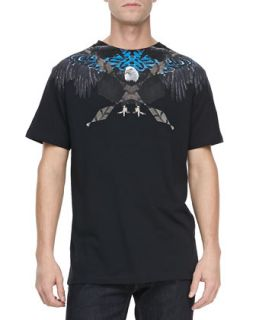 Mens Graphic Eagle Tee, Black   Marcelo Burlon   Black (XL)