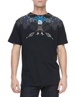 Mens Graphic Eagle Tee, Black   Marcelo Burlon   Black (XL)