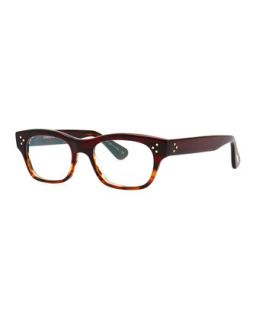 Artie Rectangular Optical Frame, Red   Oliver Peoples   Red (ONE SIZE)