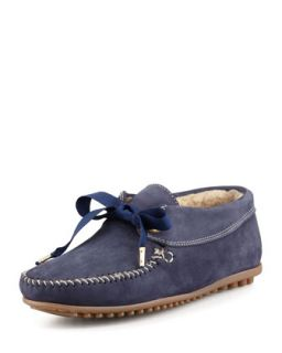 Daphne Lace Up Moccasin Bootie, Blue   Jacques Levine   Blue (38.0B/8.0B)