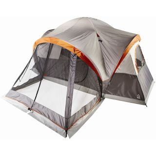 ALPINE DESIGN 8 Person Mesa Tent with Screen Porch   Size: 8, Orange/grey