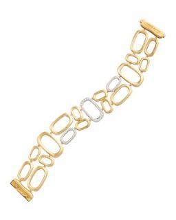 Murano 18k Brushed Gold & Diamond Bracelet   Marco Bicego   Gold (18k )