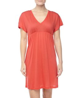 Womens Pilar Short Sleeve Jersey Gown   Hanro   Sunset (X SMALL)