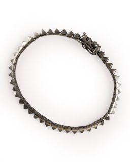 Gunmetal Pyramid Tennis Bracelet   Eddie Borgo   Dark gray