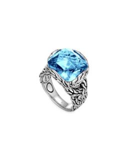 Batu Chain Blue Topaz Ring, Medium   John Hardy   Blue (7)