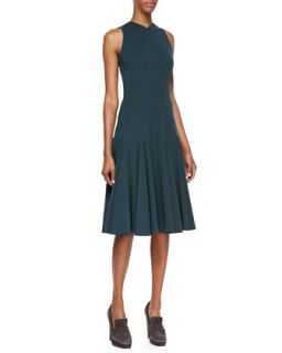 Womens Sleeveless Dress with Seamed Details, Petrol   Derek Lam   Petrol (40/4)