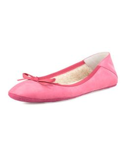Inslee Suede Ballerina Flat   Jacques Levine   Fuchsia (35.0B/5.0B)