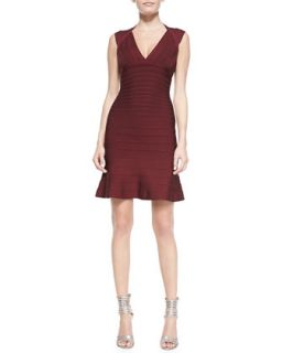 Womens Tracey Signature Essential Bandage Dress   Herve Leger   Beet (SMALL)