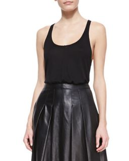 Womens Low Cut Jersey Tank   10 Crosby Derek Lam   Black (SMALL)