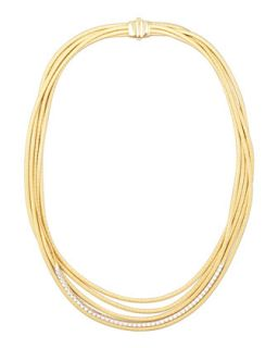 Diamond Cairo 18k Five Strand Necklace   Marco Bicego   (18k )