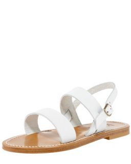 Double Band Slingback Sandal   K. Jacques   Blanc (white) (36.0B/6.0B)