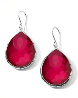 Raspberry Doublet Drop Earrings   Ippolita   Silver