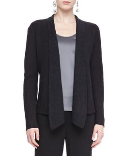 Womens Mosaic Shaped Open Jacket   Eileen Fisher   Charcoal (MEDIUM (10/12))