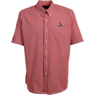 Antigua St. Louis Cardinals Mens Scholar Button Down Short Sleeve Shirt   Size: