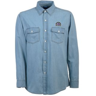 Antigua Colorado Rockies Mens Long Sleeve Chambray Shirt   Size: Medium,