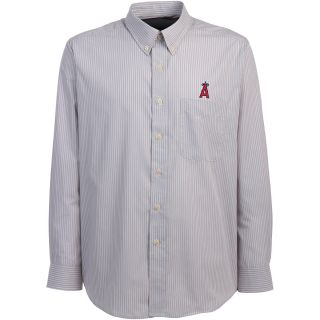 Antigua Anaheim Angels Mens Republic Button Down Long Sleeve Dress Shirt