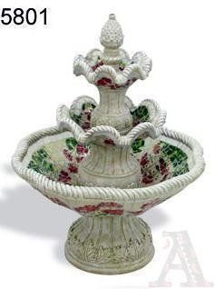 Outdoor Yard Garden 3 Tier Mosaic Tile Water Foutain : Free Standing Garden Fountains : Patio, Lawn & Garden