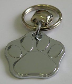 Hand Made Pet ID Tag, 100% Pure Zinc Stainless Steel with Laser Engraving Pet's Name, Phone Number, Breed Name & Photo. Adorable Paw Print Design w/Ring Ready to Attach to Your Afvorite Collar. 3cm x 3cm Size for All Pets. 100% Satisfaction Guarant