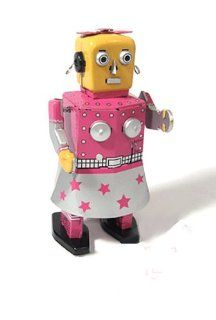 Wind Up Walking Tin Toy Venus Robot   Reproduction: Toys & Games