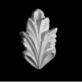 """Plaster Leaves Molding (Item # A92508) Hand Carved & Sculpted From Plaster with Its Decorative Architectural Design, 1 7/8"""" Long X 3"""" Wide and 1/4"""" Projection/thickness   Wood Moldings And Trims"""
