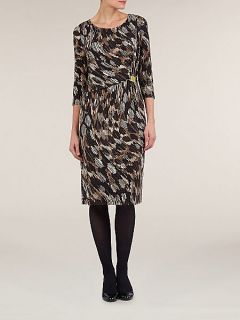 Windsmoor Black geometric print jersey dress Black