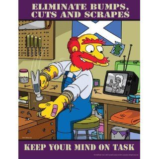 Simpsons Workplace Safety Poster   Keep Your Mind On Task: Industrial Warning Signs:  Industrial & Scientific