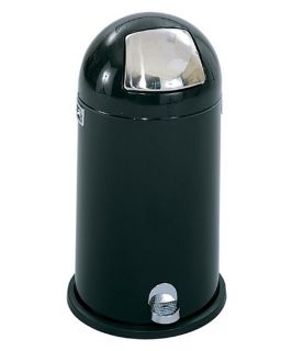 Safco Dome Top Step Round Metal 12 Gallon Trash Can   Kitchen Trash Cans