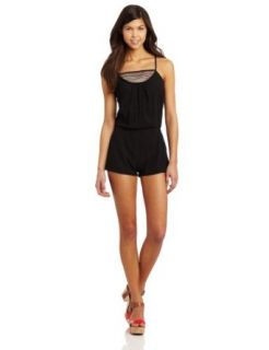 Rip Curl Juniors Market Mix Romper, Black, Large: Clothing