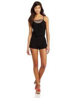 Rip Curl Juniors Market Mix Romper, Black, Large: Clothing