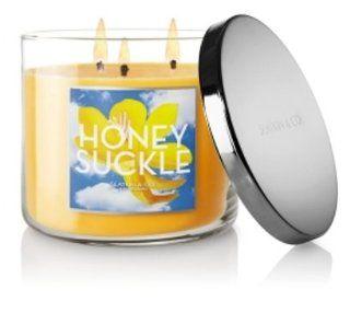 Bath & Body Works Slatkin & Co. Honeysuckle Scented 3 wick Candle 14.5 Oz   Slatkin And Co Candles