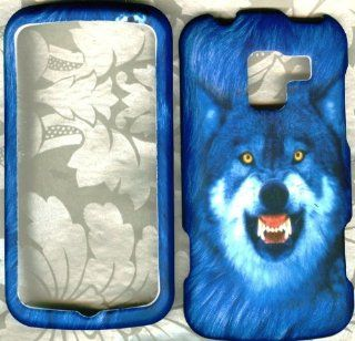 Blue Wolf rubberized LG Enlighten VS700 Verizon cover snap on hard Case: Cell Phones & Accessories