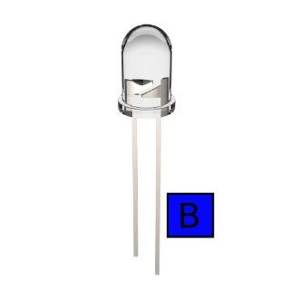 Joe Knows Electronics 5mm Clear Blue LED (100 Pack) HQ Series: Electronic Component Led Lamps: Industrial & Scientific