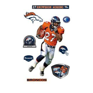 Knowshon Moreno Denver Broncos Wall Decal : Sports Fan Wall Banners : Sports & Outdoors