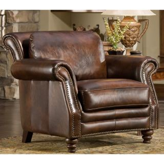 D'Oro Maxwell Leather Chair   Leather Club Chairs