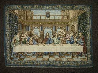 "Authentic Italian Tapestry The Last Supper by Leonardo da Vinci   TR2503 39""x28""   Italy Tapestry"