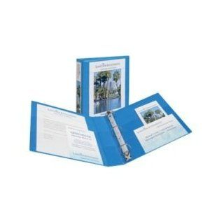 "Avery   Nonstick Heavy Duty EZD Reference View Binder, 2"" Capacity, metal blue   Sold As 1 Each   Extra wide cover for use with top loading sheet protectors and extra wide dividers.   Nonstick, archival safe material won't lift ink or toner off of"